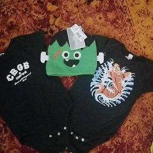 18 months boys onesies with Monster hat